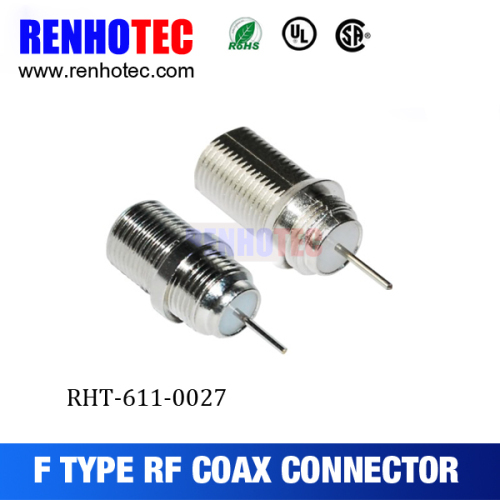 RF connector F connector crimp plug for RG58