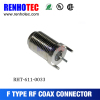 Twist On F Type connector female coaxial cable F connector socket adapter