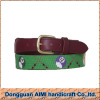 2016 AIMI Good quality embroidery needlepoint belt man belt with copper buckle
