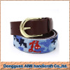 AIMI 100% handmade new women genuine leather belt fashion custom needlepoint belt