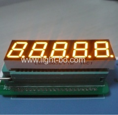 "Super bright amber 0.56"" 5 digit 7 segment led display common cathode for temperature humidity indicator"