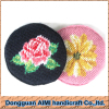 AIMI Table dinner ware round shape needlepoint cup mat tea cup coaster set