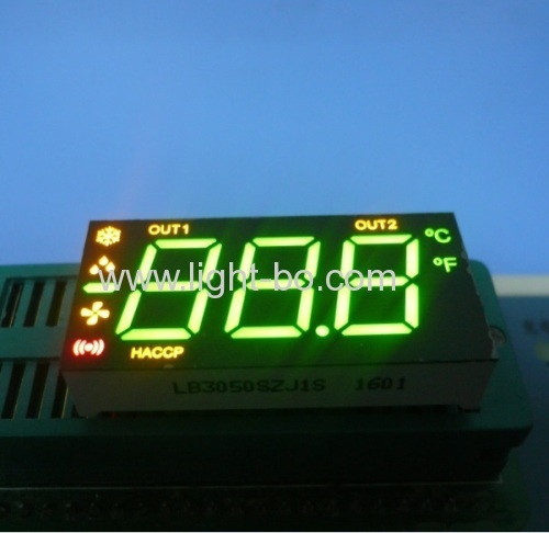 Custom Design 3 1/2 Digits Green / Yellow / Red 7 segment led display for Refrigerator Control