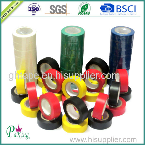 America Market Color Hot Melt Electric Grade PVC Insulation Tape