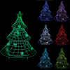 Optical Illusion 3D Christmas Tree 7 Colors Light Decoration Lamp