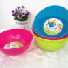 Color plastic salad bowl with two claws Plastic serving dish