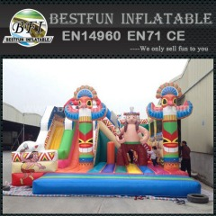 Indian Style Inflatable Amusement Park Obstacle Course