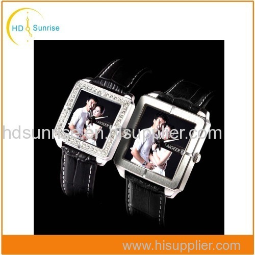 High Quality Japanese Movement Leather Custom Fashion Luxury Couple Lover Watches