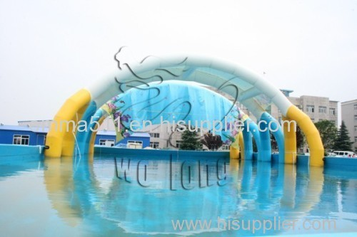 Steel Frame Pool with tent