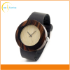 Luxury Bamboo Wood Watch with Cow Leahter Strap Quartz Men Wooden Watches
