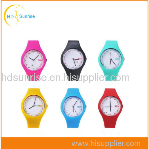 Top Quality Popular Waterproof Fashion Silicon Watch Lady Silicone Watch