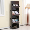 supply office use wooden magazine rack book display shelf
