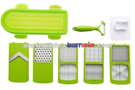 Kitchen Master Green Manual Food Slicer Chopper As Seen On TV