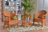 Living room natural rattan table chair solutions