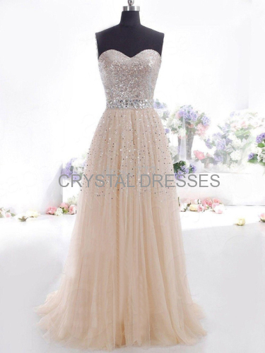 long prom dress evening prom dress sexy prom dress Beading prom dress Tulle prom dress cocktail prom dress
