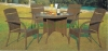 Brown rattan patio furniture set wicker table chairs
