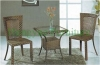 Brown wicker rattan table chair furniture for living room