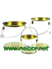 Clear Cylindrical PVC PET bucket plastic tubes with tin lid and bottom paint can bucket
