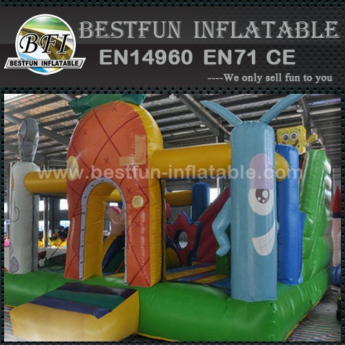 Commercial grade spongebob inflatable bounce house