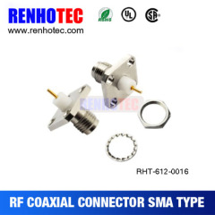 Customized professional sma female chassis crimp connector sma