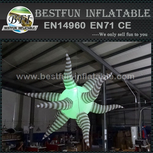 Color changing inflatable star light for event decorations