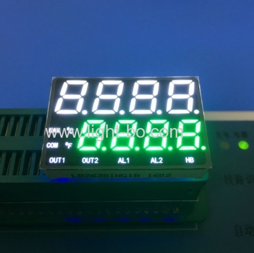 Custom Design Ultra white and Pure Green 8 Digits seven segment led display for process controller