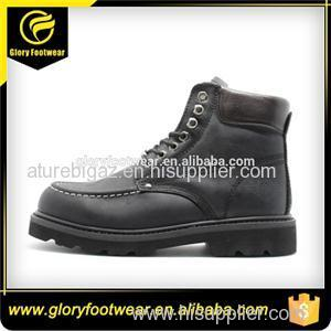 Black Classical Goodyear Welted Work Shoes
