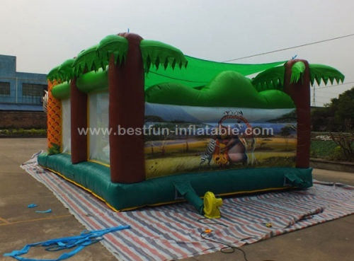 Big Safari bounce house Animal jumping castles