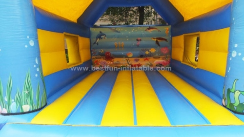 Shark Jumping Castles inflatable moon bounce with shark