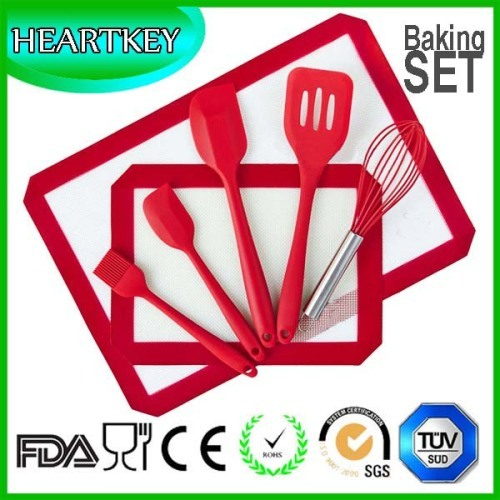 Kitchen Essential Tools Bakeware Silicone Baking Mat Spatula 7pcs Set
