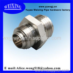 strainless steel straight hose connector hydraulic fitting fitting