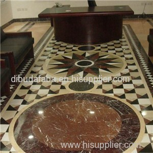 Waterjet White/Cream/Brown Marble Pattern For Floor Decoration