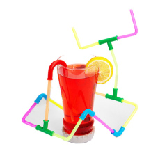 104pcs Drinking Straw construct Set