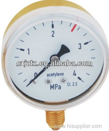 63mm Bottom Screw Window Acetylene Pressure Gauge