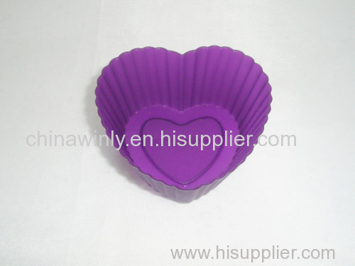 Small Heart Muffin Silicone Cake