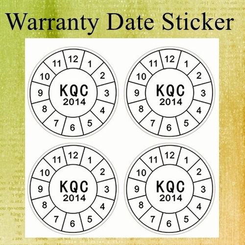Custom Non Removable Destructible Vinyl Label Paper Printing Round Warranty Date Sticker