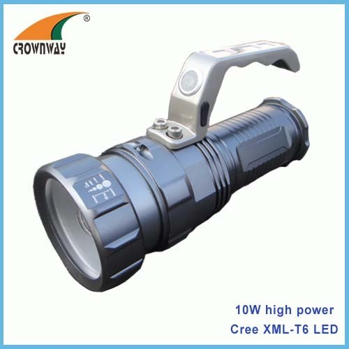 10W Cree XML T6 LED Portable Lantern 18650 rechargeable aluminum body 800Lumen brightness anodized body finish