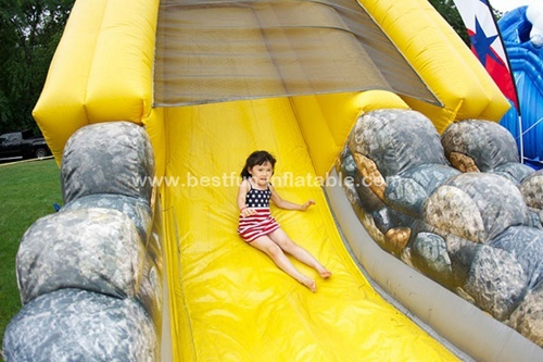 Crazy inflatable monster truck slide direct manufacture