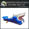 PVC commercial inflatable shark water slide