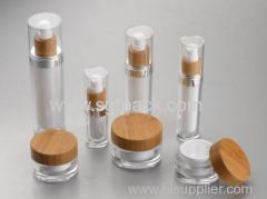 15ml acrylic bottle with 20/410 bamboo pump