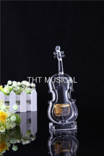 TRANSPARENT ACRYLIC MUSIC BOX