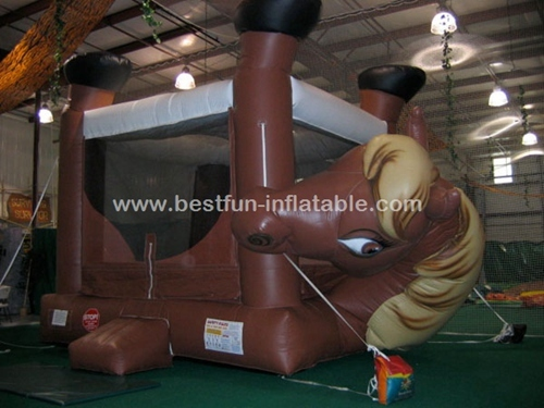 Horse Theme cheap inflatable bouncer