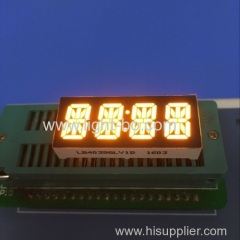 "Custom super amber common cathode 4 digit 0.39"" 14 segment LED Display for instrument panel"