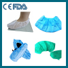 Disposable non-woven and plastic shoe cover