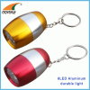 6LED super bright white keychain light egg shaped mini lamp 2*CR2032 cell button batteries hand lamp