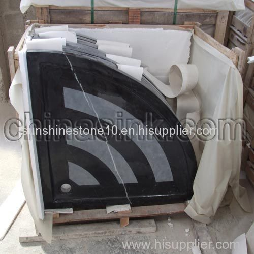 Forest black marble shower tray manufacterer