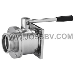 Stainless Steel Sanitary Flange Type Ball Valve For Brewing