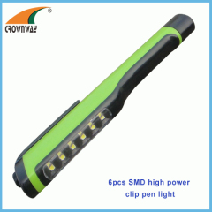 SMD high power 60Lumen pen light LED clip pocket light doctor lamp hand torch work light