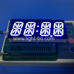 "Custom Design ultra blue 0.87"" 4 digit 14 segment led display common anode for clock indicator"