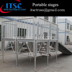 4x4ft Portable stages in USA Market